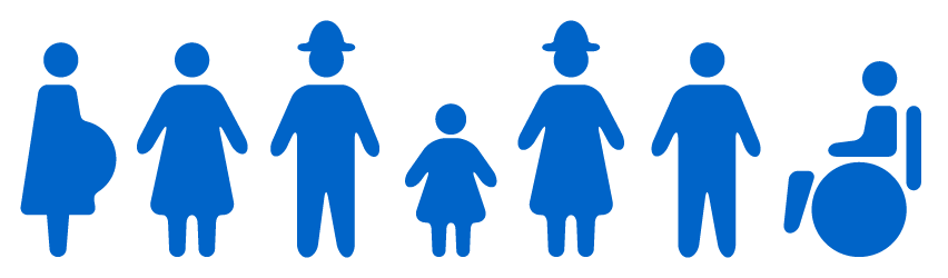 Group of people – young, adults, elderly, disabled